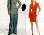 Vintage UNCUT GIVENCHY Vogue Paris Original Pattern 2183 - Misses/Misses Petite Jacket, Dress & Pants - 6-10