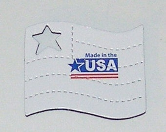 Flag Magnet - 'Made in the USA' Recycled GREETING CARD - Not a Soda Can