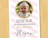 Twinkle Twinkly Little Star Birthday Party Invitation Printable