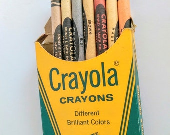 Vintage Crayola Crayons Box Binney & Smith