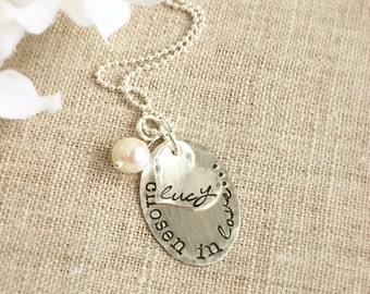 Adoption Necklace . Personalized Necklaces . Adoption Jewelry . Personalized Jewelry . Faith Jewelry . Love Necklace . Adopt . Shay Designs