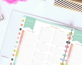 Weekly Meal Planner Printable, Meal Planning, Meal Planner & Grocery List Printable Planner Inserts, Menu Shopping List, Letter Size Planner