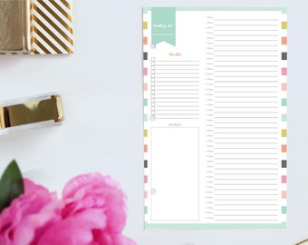 Daily planner 2017 2018 Hourly planner Dated planner