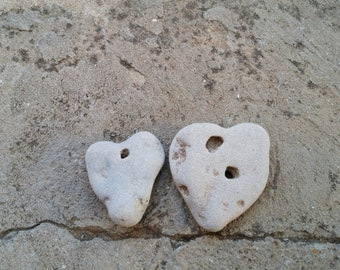 Natural Hole Heart Shape Stone. I Love You Unique Gifts. Beach Heart Sea Rock. Holey / Hag Stone. Terraium Rock Aquarium Deco.