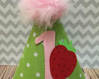 Berry Birthday 1st Birthday Party Hat Cake Smash Birthday Photoshoot Prop