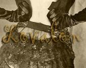 1930's Lingerie Model... Instant Digital Download... Vintage Fashion Photo by Lovalon