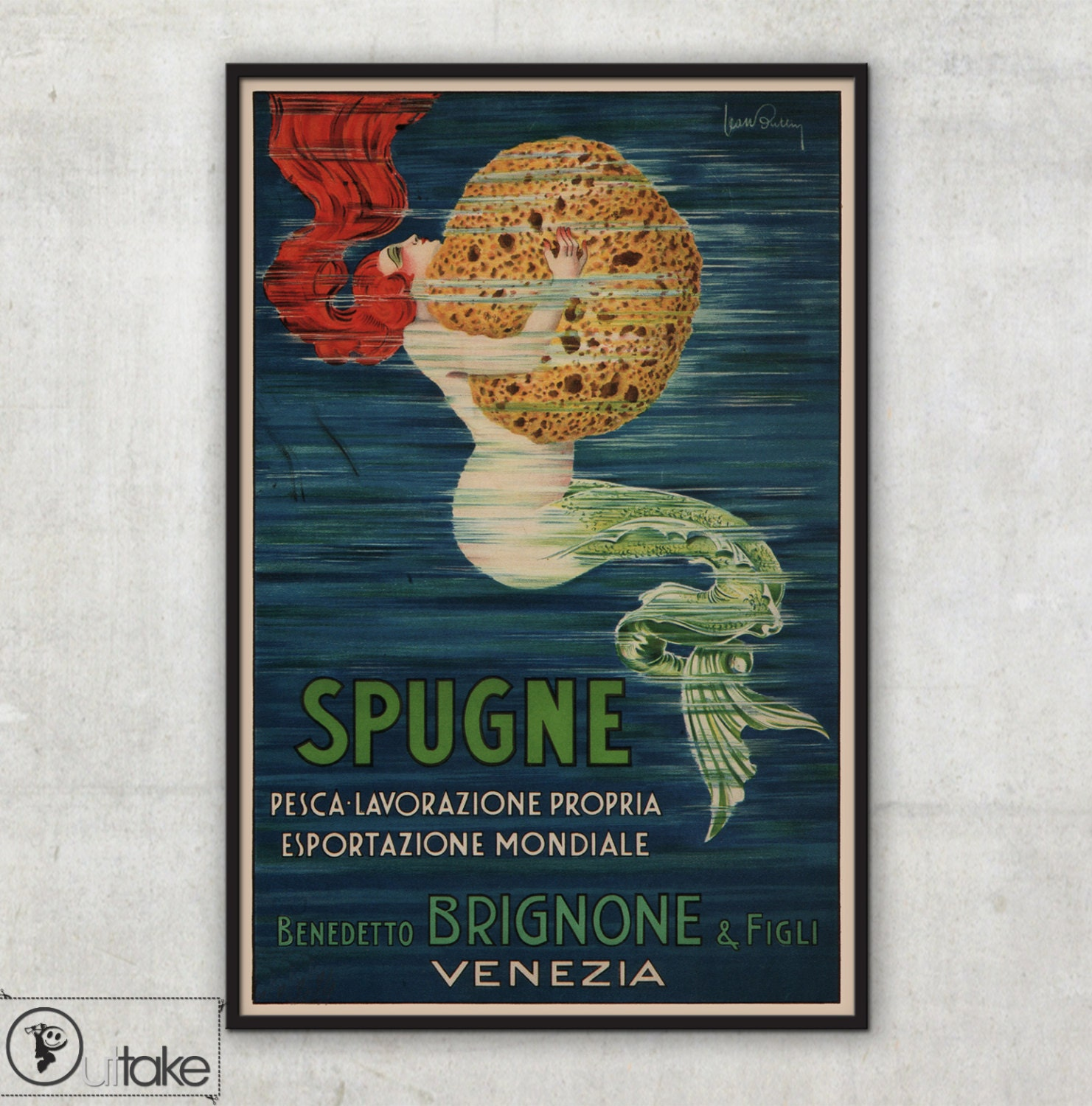 Vintage ad poster from venice home wall art bathroom decor for Bathroom accessories ads