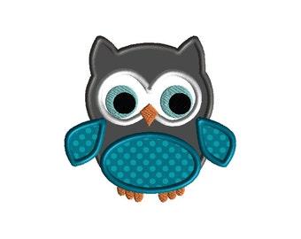 Little Owl Applique Machine Embroidery Design-INSTANT DOWNLOAD