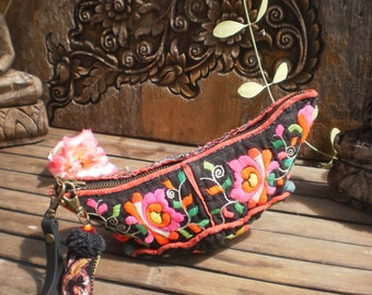 Hmong  Baby Hat  Purse Beautiful,Old and Sweet Old Tribal Hat