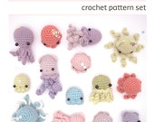 crochet pattern - octopus, squid & jellyfish amigurumi pattern