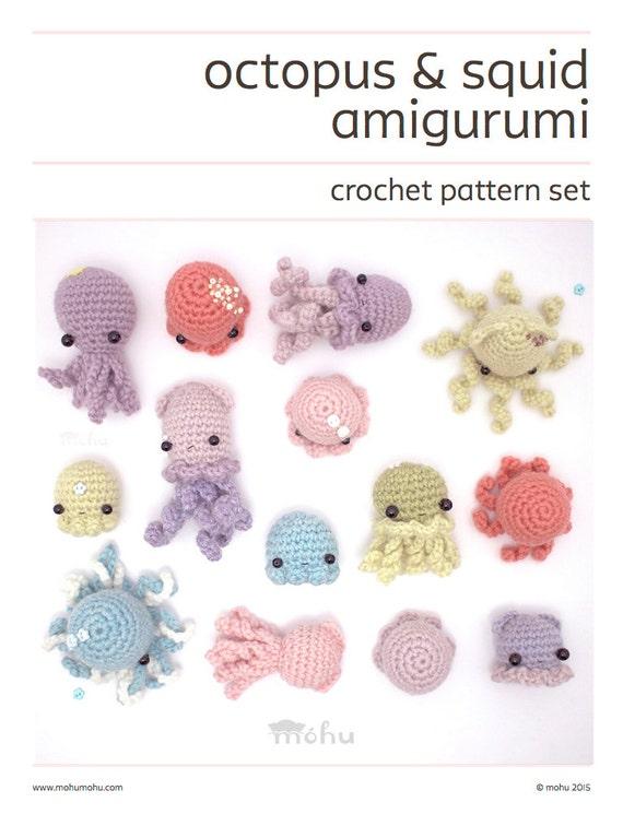 Amigurumi Crochet Difference : crochet pattern octopus squid & jellyfish amigurumi pattern