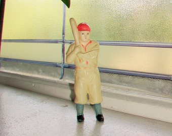 Vintage Celluloid Baseball Player Figurine Toy