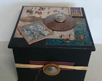 American Indians of The Old West - Decorative Wooden Box