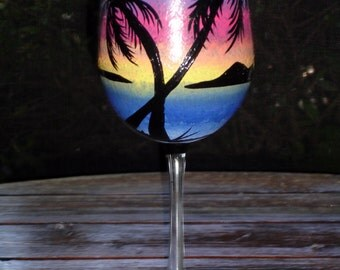Tropical wine glass