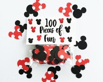 Party Confetti, mickey mouse confetti, mickey mouse party, mickey mouse decorations, mickey birthday, minnie birthday, mickey mouse birthday
