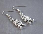Robot Earrings - Robot Jewelry - Whimsical Earrings - Dangle Earrings - Steampunk Earrings - Geek Jewelry - Drop Earrings - Nerd Earrings