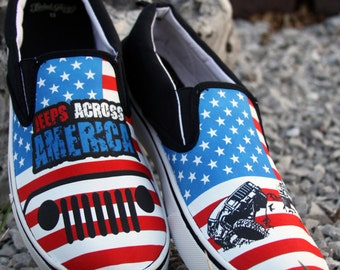 Jeeps Across America Canvas Shoes