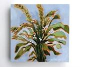 Original painting herbs garden greens plants nature wall art kitchen art - Sage, Rosemary, & Basil