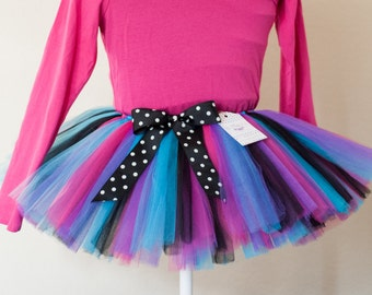 "21st birthday skirt Purple, Blue, Pink & Black tutu ""Demi"" 30 women's adult tutu - teen tutu juniors sizes costume tutu"