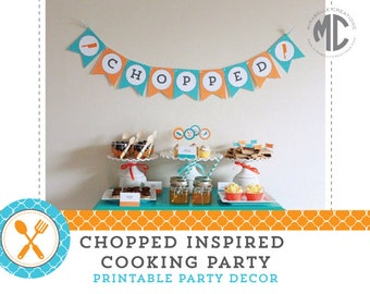 COOKING PARTY PRINTABLES - Chopped Party Digital Collection -- Mirabelle Creations