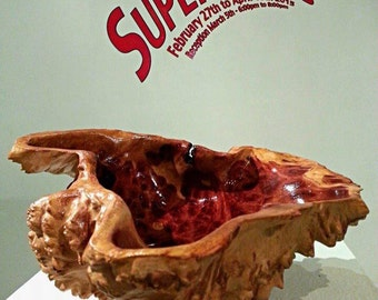 Red Mallee Burl Carved Bowl