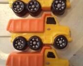 12 Dump Truck Construction Worker Chocolate Candy Lollipop Party Favors