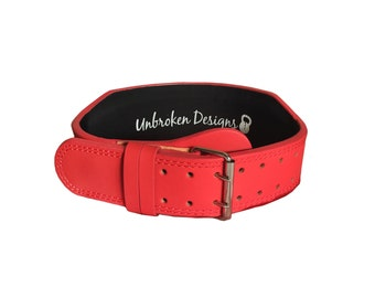 SMALL Matte Red Weightlifting Belt - SIZE SMALL - UDB014S