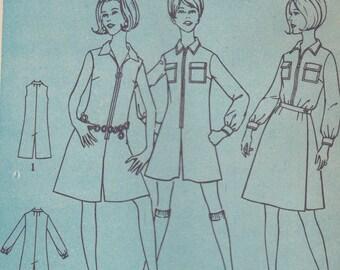 60s Pantdress/Jumpsuit & Wrap Skirt Pattern Simplicity 7487 Size 12 Uncut