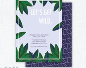 "Jungle Party Invitation Printable ""Let's Get Wild"""
