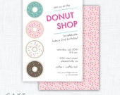 Donut Party Invitation Printable
