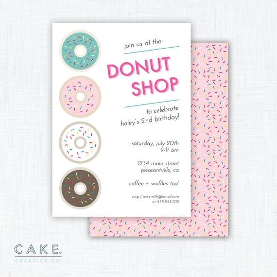 Donut Party Invitation Printable
