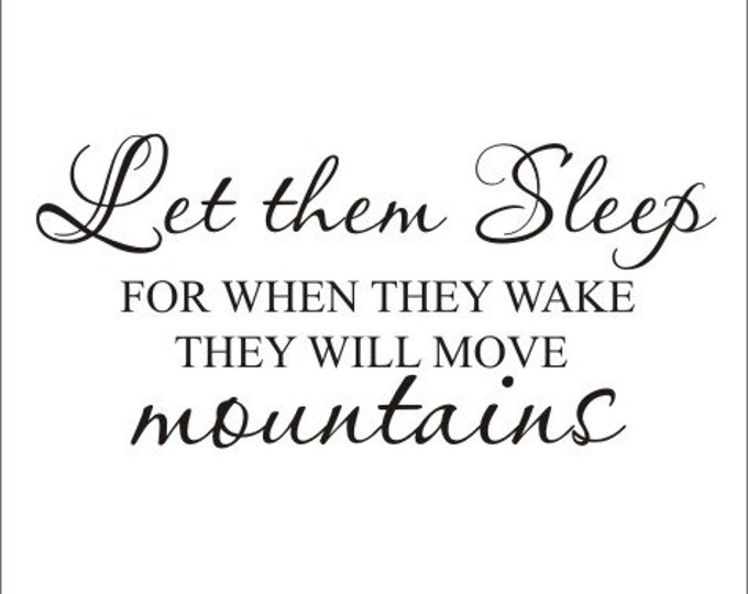 Let Them Sleep Wall Decal They Will Move Mountains Wall Decal Twins Decal Twin Nursery Decal Shared Bedroom Decal Vinyl Wall Decal Kids