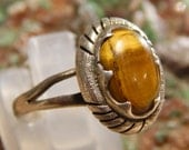 Native American Vintage Sterling Tiger Eye Ring