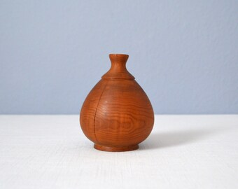 Vintage Hand Turned Wood Bud Vase