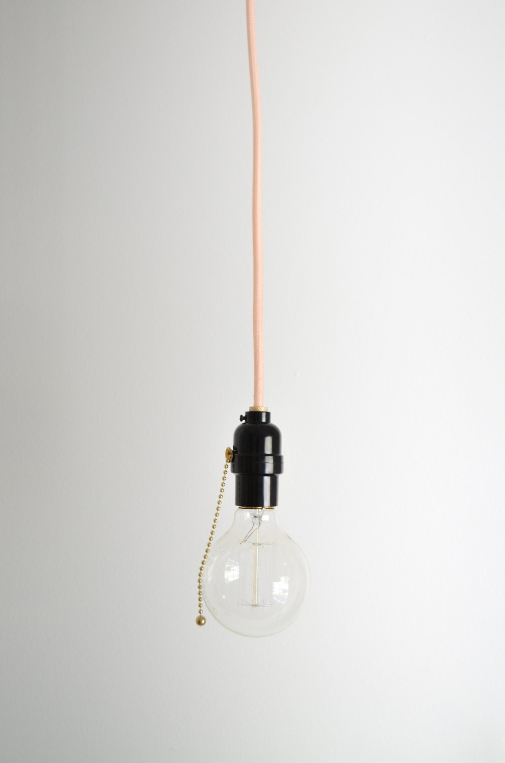 pull chain utility light hanging pendant lamp by triplesevenhome. Black Bedroom Furniture Sets. Home Design Ideas