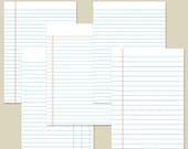 "5x7"" Planner Inserts Filofax Inserts Ledger Set 1 Printable INSTANT DOWNLOAD"