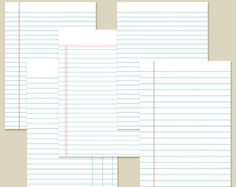 "5x7"" Planner Inserts Filofax Inserts Ledger Set 1 Printable INSTANT DOWNLOAD"