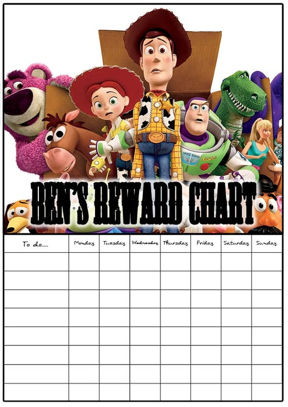 Toy Story Potty Chart : Toy story reward chart with stitckers and a dry by