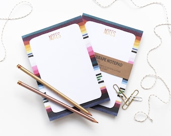 Serape Notepad - Colorful Notes To Do Paper Pad