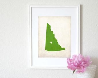 Yukon Personalized Canadian Province Map Art 8x10 Print