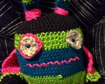 "Meet ""Javier the Monster Hunter"" Handmade Crochet Amigurami Toy"