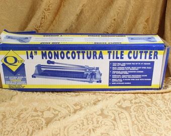 Tile Cutter- 14 inch Monocottura Ceramic Tile Cutter- Heavy Duty- High Leverage Handle-