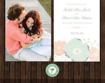 5x7 Save the Date Card Template - S33