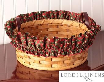 Mistletoe Basket Garter, Christmas Basket Garter, Large Basket Garter, Basket Decor, Red Basket Garter