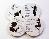 Funny Coasters, Drink Coasters, Wine Coasters, Coasters, Tableware, Humor, Party, Funny Women, Black, White, Cocktail Coasters (5029)