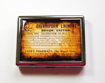 Cigarette Case, Metal Wallet, Cigarette box, Cigarette dispenser, Cigarette Holder, Poison, Orange, Poison Case, Stainless Steel (4913)