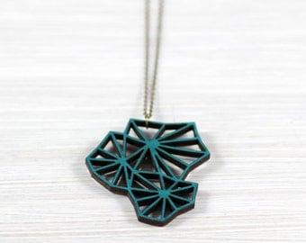 geometry blossom petrol wood chain