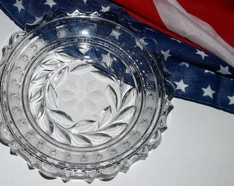 Cut Glass Bowl, Patriotic with Stars (box 1)