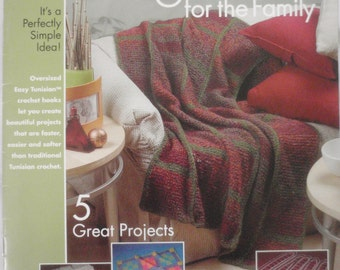 Easy Tunisian Crochet Afghans for the Family, Annies Attic, Pattern 874317 -2004