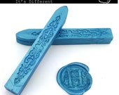 Baby Blue Sealing Wax (Color R) - Stamp Wax, Seal Wax - Standard or Glue Gun Use